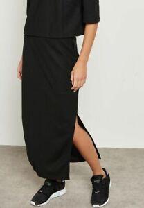 adidas Originals Women's EQT Piqué Long Stretch Split Maxi Skirt Black XS S M L