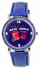 David & Goliath Navy Blue We Be Jammin PB&J Peanut Butter Jelly CZ Crystal Watch