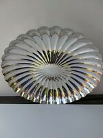 Stunning Art Deco ELKINGTON Large Sunburst Scalloped Dish Fruit Bread