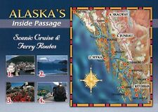 Inside Passage Alaska, Glacier Bay, Ketchikan, Juneau, Sitka etc. - Map Postcard