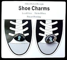 Ovarian Cancer Teal Ribbon Walk for the Cure Shoe Charms Lace Ornaments New