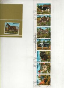 Thematic Stamps - PARAGUAY 1976 DOMESTIC ANIMALS 8v used
