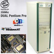 Dual Pentium pro 200MHZ Computer Pc Intel Windows 2000 NT 4.0 Gigabyte GA-686DX