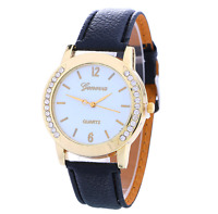 NEW Geneva Women Watch Diamond Stainless Steel Analog Quartz Wrist Watch Hot
