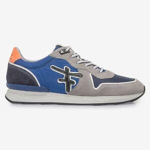 Floris van Bommel Sneaker grau blau 16346/05