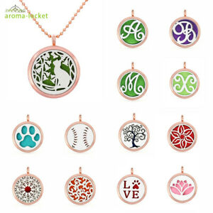 Alloy tree of life Necklace Aromatherapy Perfume Essential Oil Diffuser Locket