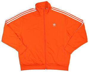 Adidas Solid Color Full Zip Men's Firebird TT Track Jacket XXL NWT Orange