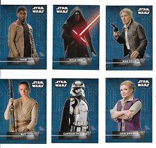 2016 Topps Star Wars Force Awakens Series 2 Character Stickers Set 1-18 Rey Finn