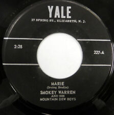 SMOKEY WARREN 45 Marie YALE label WESTERN Swing COUNTRY w4583