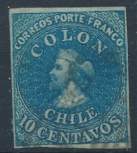 [30097] Chile Good classical stamp Very Fine used