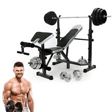 New Gym Fitness Weights Bench Multi Exercise Function Dumbbell Workout Bench UK
