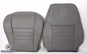 99-04 Ford Mustang GT -Driver Side Bottom & Lean Back Leather Seat Covers Gray