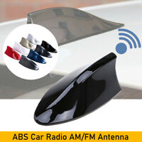 Black Car Shark Fin Roof Antenna Radio FM/AM Aerial Mast Universal For VW Ford