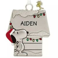Hallmark AIDEN Peanuts Snoopy and Woodstock Charm Christmas Charm Ornament New