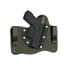 FoxX Leather & Kydex IWB Hybrid Holster Glock 43 9mm Black Right Tuckable