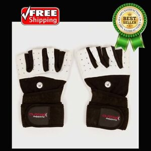 Body Builder Gym Gloves with Wrist Wrap by Outbak Bodysports Weightlifting