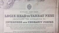 ADMIRALTY  SEA  CHART. # 3547. LOGIE HEAD to TARBAT NESS. 1914 Edition