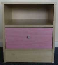 Madison Bedside Chest in Maple & Pink Effect