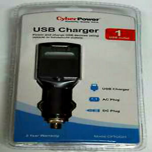 New CyberPower Mobile Power USB Charger for Home, Office and Auto