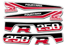 AMR Racing Honda TRX250R Fourtrax OEM Graphic Kit Quad Decal ATV Stickers RED BK