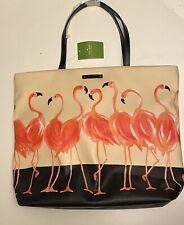 Kate Spade Flamingo Walk On The Wild Side Bag Purse Bon Shopper Tote Pink Purse