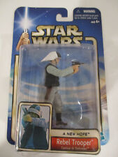 Star Wars Saga Light Blue Rebel Trooper Tantive IV Black hair (02-54) 2002 New