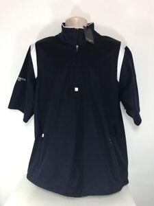 Glenmuir Half Sleeve Wind Jacket, Medium, BNWT, Navy / White
