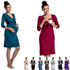 Zeta Ville - Women's Maternity Nursing Nightdress Breastfeeding Nightie - 255c