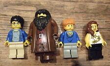 *LEGO MINIFIGURES: HARRY POTTER, RON WEASLEY, HERMIONE GRANGER + HAGRID