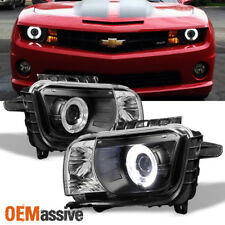 Fits Black 10-13 Camaro Dual Halo Projector Headlights Lamp Lights Left+Right