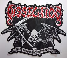 dissection anti cosmic metal of death SHAPED      EMBROIDERED BACK PATCH