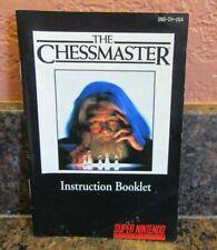 The Chessmaster Super Nintendo Video Game Instruction Manual
