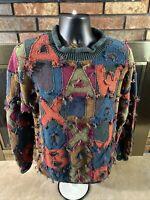 Vintage 1980's Jawbox Urban Training Multicolored Winter Sweater Mens Size Large