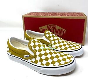 VANS Classic Slip On Checkerboard Olive Oil Men's Size Sneakers VN0A4U381GI