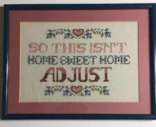 Needlework Cross Stitch Framed Home Sweet Home