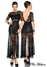 Bodenlange Damenkleider mit V-Ausschnitt ohne Muster für Cocktail-Anlässe