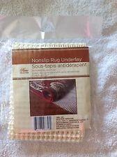 Non Slip Grip Rug Carpet Floor Pad Underlay 18 x 28 Inches Brand New