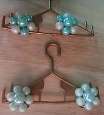 Earrings Japan Turquoise Blue Faux Pearl 2 Pair 1950's Beaded Cluster Clip On