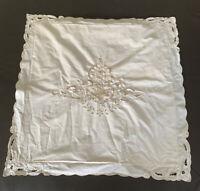 "Embroidered Euro Victorian Garden Style 24"" Pillow Sham Cover Beige"