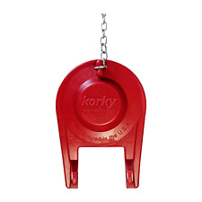 """Korky 2001 CP PLUS 2"""" Inch .Tank Seal Red Toilet Flapper."""