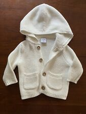 Pre-Owned Infant Baby Gap Hooded Sweater Sz-0-3 mths