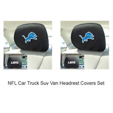 New 2pc NFL Detroit Lions Automotive Gear Car Truck Headrest Covers Set