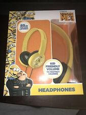 Despicable Me 3 Kid Safe HEADPHONES Adjustable Over-Ear Volume Limiting MINIONS