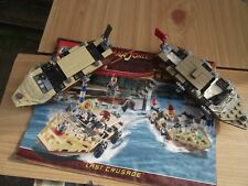 Lego Indiana Jones set 7197 Venice Canal Chase BOATS ONLY with Instructions