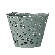 Bloomingville Teelichthalter - Windlicht Porzellan grün