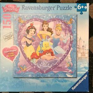 Lovely Disney Princesses Ravensburger 150 PC Puzzle Snow White Ariel Belle