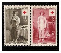 s23376) FRANCE 1956 MNH** Nuovi** Red Cross 2v Y&T 1089/90