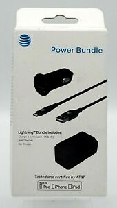 New Car & Home Charger /w Lightning Sync Cable Bundle by AT&T