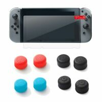 Tempered Glass Screen Protector For Nintendo Switch ( + 2-pc Thumbstick Cap)