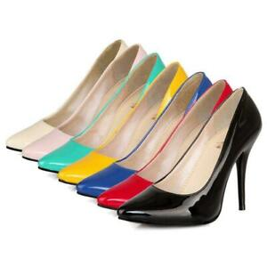 Women Pointed Toe Stilettos High Heels Dress Shoes Slip On Classic Party Pumps
